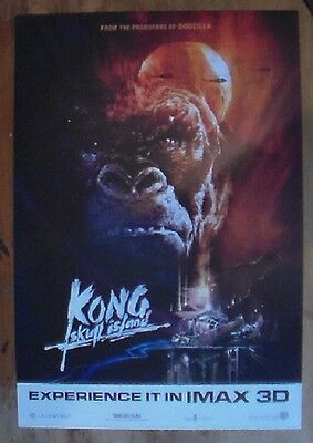 Kong Skull Island Experience it in IMAX 3D Promo Poster Card - Warner Bros. 2017