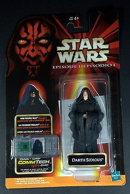 Star Wars Episode 1 Phantom Menace Action Figure Comm Tech Darth Sidious Mexican