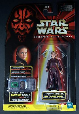 Star Wars Episode 1 Phantom Menace Action Figure Comm Tech Queen Amidala Mexican