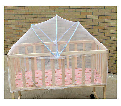 Foldable Baby Bed Mosquito Net Tent Kids   Canopy Netting   blue  NEW