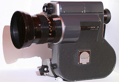 CANON Scoopic 16mm Film Camera w/External Power/ Case and Extras