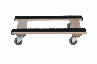 Wood 4-Wheel H Dolly - Heavy Duty Swivel Casters