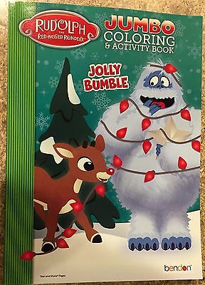 Rudolph The Red-Nosed Reindeer Jumbo Coloring & Activity Book Jolly Bumble