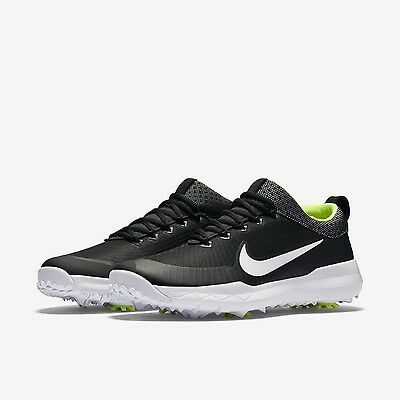 New Nike FI Premiere Golf Shoes Spikes Cleats Size 10 Black White Volt