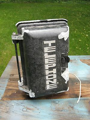 Vtg Outdoor Telephone Box - Possibly Military - Waterproof Phone Booth Rotary