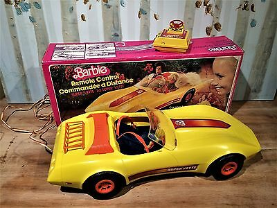 Vintage 1979 Barbie Super Vette Motorized Car with Original Box COMPLETE!