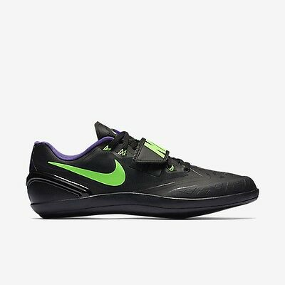Nike Zoom Rotational 6 Shot Put Discus Throw Track Field Shoes 6 Black Green 7.5