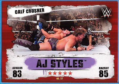 Topps WWE Slam Attax Takeover Map Nr.57 AJ Styles