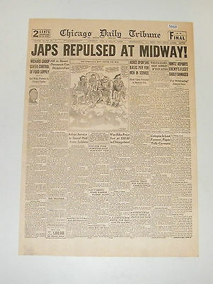 4 WWII Newspaper Headlines Allies Invade France Italy AEF Invades Africa Reprint