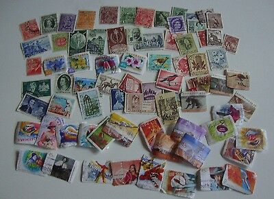 Small Collection of 75 Postage Stamps from Australia, Used.