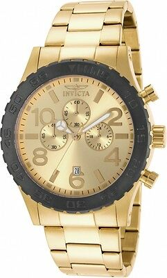 Invicta Men's 15160 Specialty Quartz Chronograph Gold Dial Watch