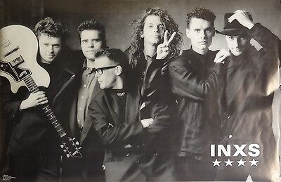 Inxs III 23x35 Group Shot Music Poster 1989 Michael Hutchence