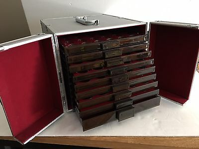 Lighthouse Aluminum Storage Case With 9 Trays & Capsules Included