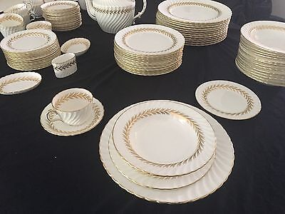 """Aynsley  Bone China """"arundel"""" Service For 12 /    82 Pieces       Mint Condition"""