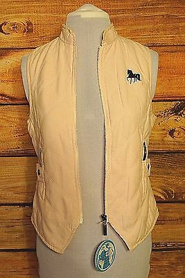 Horze Happy Go Lucky Pony Quilted Vest Pink Equestrian Horse Girls 158/164 NWT