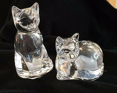 Gorham Crystal Cat Salt & Pepper Shakers Germany New Condition