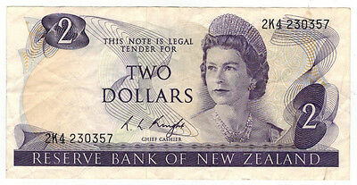 ND (1975-77) New Zealand Two Dollar Note, P# 164c
