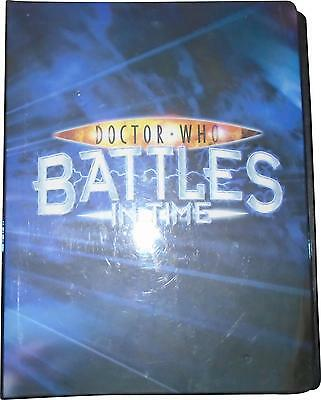 USED Doctor Who Battles In Time Set Of 100+ Trading Cards & Folder (D.T)