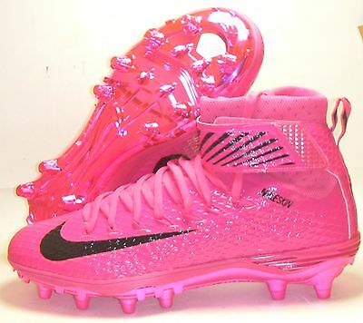 Nike Force Lunarbeast Elite TD Football Lacrosse Cleats Sz 9.5 Pink BCA Black
