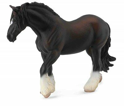 Breyer Horses Corral Pals Black Shire Draft Mare #88582 Collect A Toy Horse