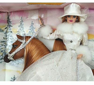 Barbie winter ride gift set 1998 collectable kids toy doll vintage winter horse