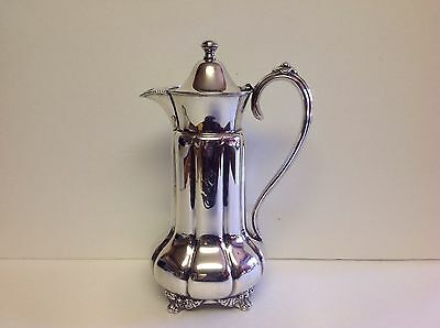 ANTIQUE FORBES QUADRUPLE SILVER PLATE CHOCOLATE POT Monogrammed