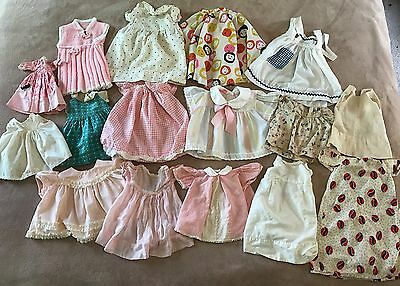 Lot of 16 Pieces Vintage Doll Clothes Mixed Lot of Sizes Most for Larger Dolls