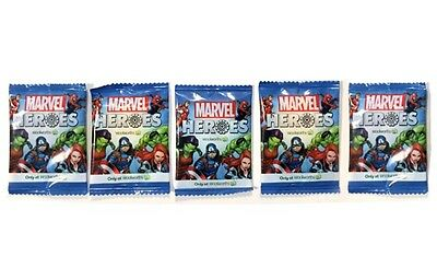 5x Woolworths MARVEL HEROES DISCS Unopened in SEALED Packets