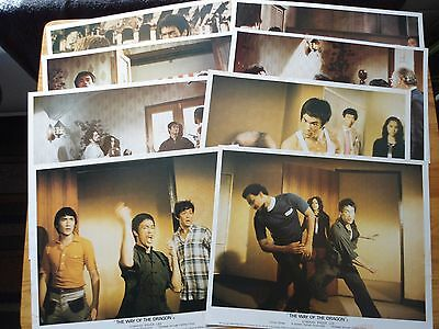 Bruce Lee- Way Of The Dragon Uk Set Front Of House/lobby Cards Pro Reproductions