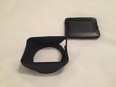 Leica 12547 Lens Hood & 14073 Rectangular Lens Cap For 28mm Elmarit E46 V4 Lens