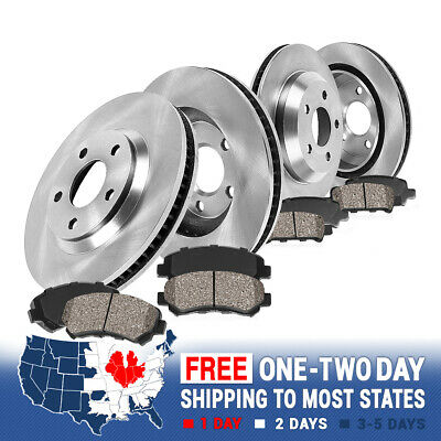 Front Rear Rotors Ceramic Pads Clips 2009 2010 2011 TOYOTA COROLLA XRS