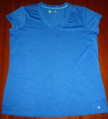Xersion Women's Size XL Blue Activewear Top Ladies Dry Fit Shirt Running Gym