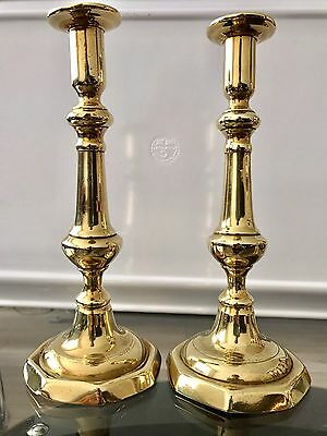 Beautiful Decorative Vintage Solid Pair Of Brass Candle Holders