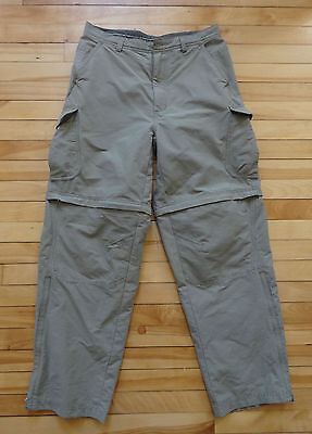 Men's REI Zip-off Convertible Hiking Walking Camping Cargo Pants 32x32 Durable