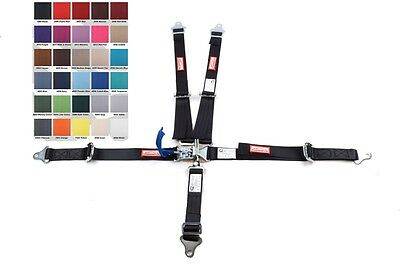 Jr Dragster Harness Sfi 16.1 5 Point Latch & Link Belt Black 30 Colors To Choose