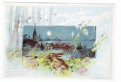 Victorian Trade Card-----Lion Coffee-----Easter Greeting---1891--#2