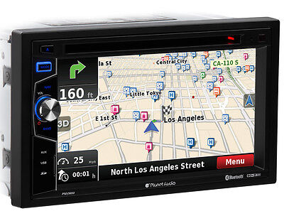 "Planet Audio PNV9650 2-DIN 6.5"" DVD/GPS/Navigation w/Bluetooth, USB, SD Receiver"