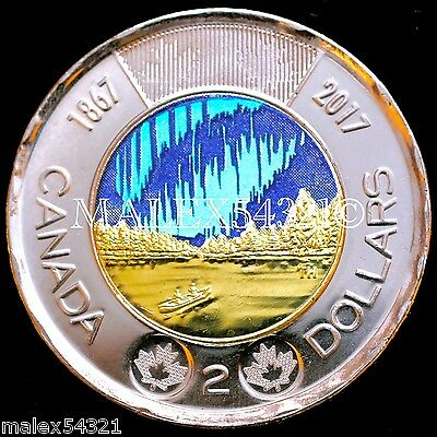 CANADA (1867-)2017 COLOURED 2 DOLLARS UNC FROM ROLL - Dance Of The Spirits -