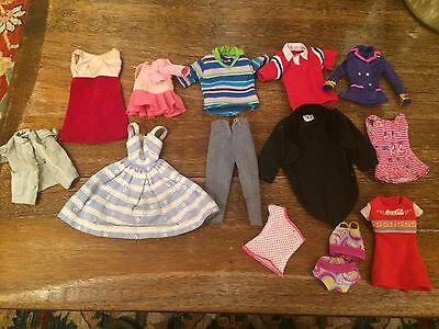 Vintage Barbie Clothing VG 14 Pieces With Tags