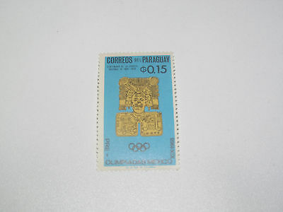 Timbre Poste Neuf Stamp TTB Paraguay Jeux Olympiques Mexico 0,15