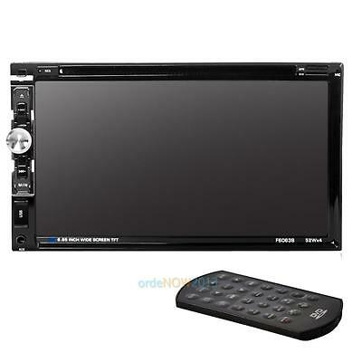 "2 Din 7 ""Bluetooth coche estéreo DVD reproductor de CD Radio FM manos libres"