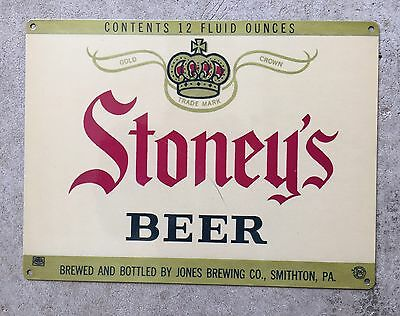 Stoney's Beer Stone Brew Jones Brewing Co Smithton PA Vintage Poster Metal Sign