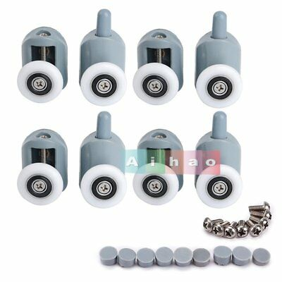 8 x Single Shower Door Rollers/Runners/Wheels For Bathroom Shower Cabins 25MM