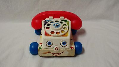 Vintage 1961 Fisher Price Chatter Telephone Pull Toy #747