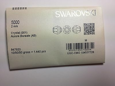 Swarovski 5000 2mm Crystal AB (1440 pieces factory pack)