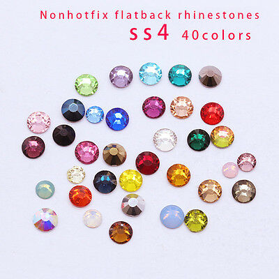 1440p ss4 Colorful Flat Back Nail Art czech Crystal Rhinestone Facets Glass Bead