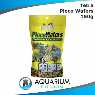 Tetra Pro Pleco Wafers 150g - Algae Vegetable Sinking Wafer Tropical Fish Food
