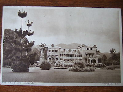 TRINIDAD  West Indies, The Governors Residence , Photochrom Old Postcard,