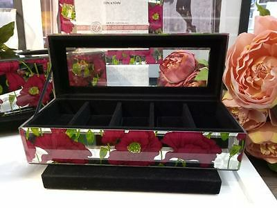 Stunning glass mirrores Watch Box - holds 5 Watches