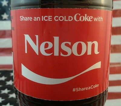Share A Coke With Nelson Limited Edition Coca Cola Bottle 2017 USA